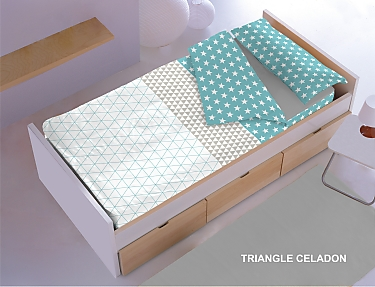 Denisa Home - Saco nórdico Triangle Celadón