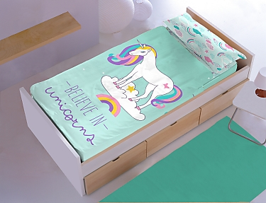 Denisa Home - Saco nórdico unicornios Belive in Unicorns