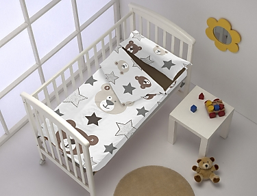 Denisa Home - Saco nórdico cuna Ositos Teddy