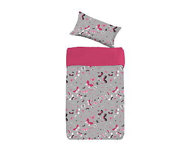 Denisa Home - Funda Nórdica para cuna-cama Happy