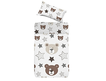 Denisa Home - Funda Nórdica para cuna-cama Ositos Teddy
