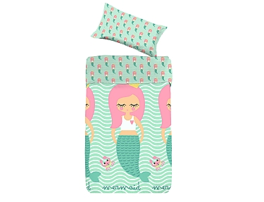 Denisa Home - Funda Nórdica para cuna-cama Sirena Mermaid