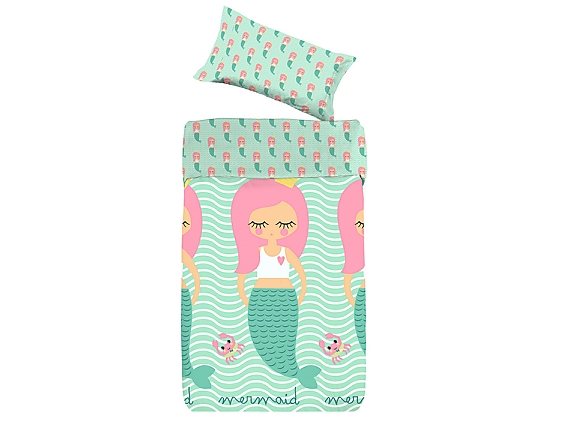 Denisa Home - Funda Nórdica para cuna-cama Ikea Sirena Mermaid