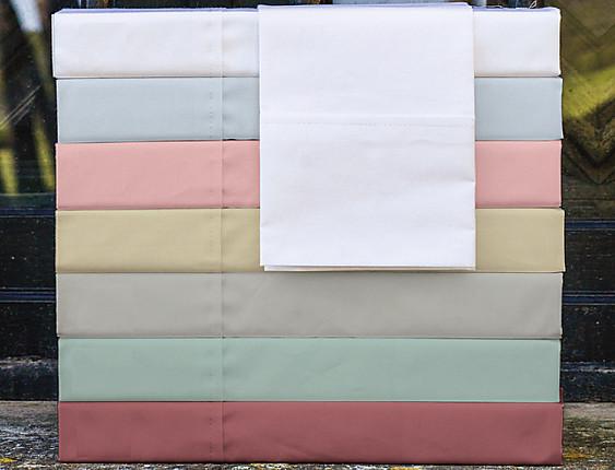 Cañete - Juego de cama Lisos Algodón Percal 200 hilos Standard