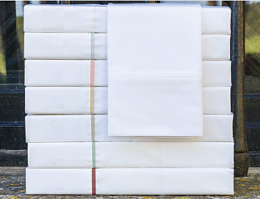 Cañete - Encimera Lisos Algodón Percal 200 hilos blanco con vivo
