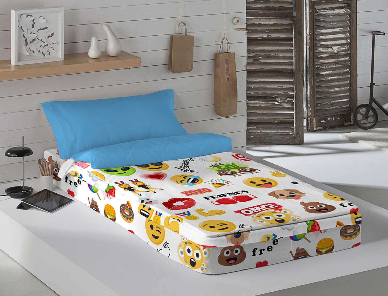 Euromoda Saco nórdico 100% Algodón Emoji Party