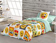 Funda nórdica 100% Algodón Emoji Hey