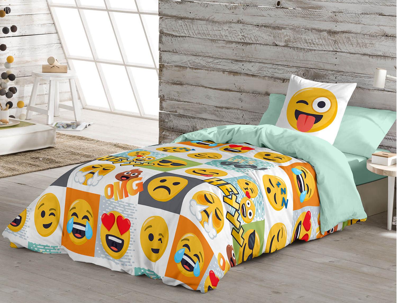 Euromoda Funda nórdica 100% Algodón Emoji Hey
