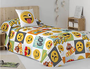 Euromoda - Colcha Bouti 100% Algodón Emoji Hey