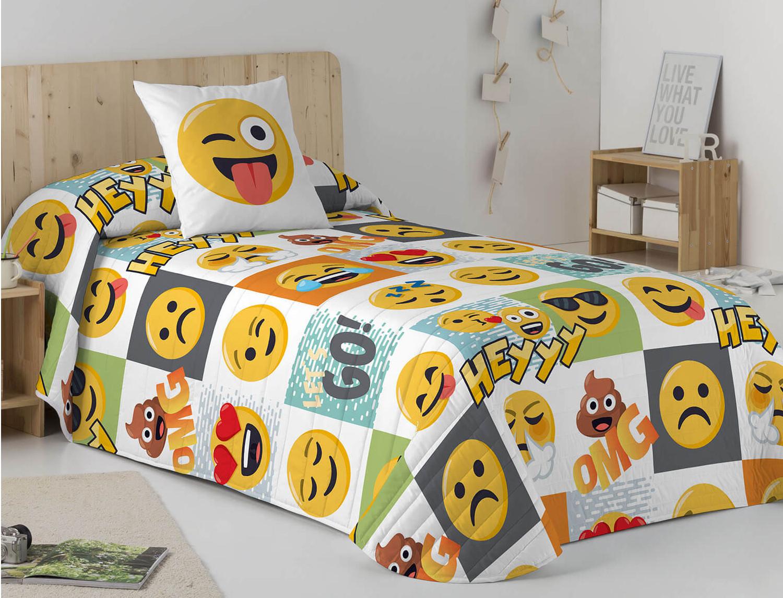 Euromoda Colcha Bouti 100% Algodón Emoji Hey