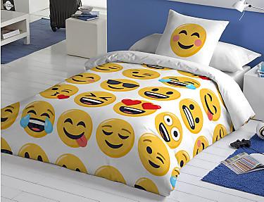 Euromoda - Funda nórdica 100% Algodón Emoji Ily