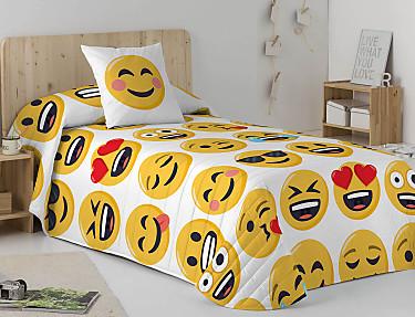 Euromoda - Colcha Bouti 100% Algodón Emoji Ily
