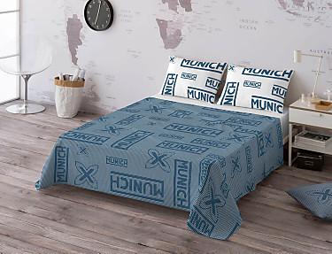 Euromoda - Juego de cama 100% algodón Cuadro Vichy