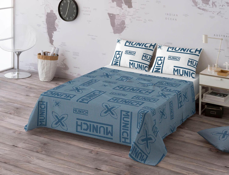 Euromoda Juego de cama 100% algodón Cuadro Vichy