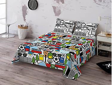Euromoda - Juego de cama 100% algodón Icons Colours