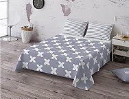 Juego de cama 100% algodón Evo Grey