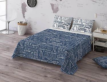 Euromoda - Juego de cama 100% algodón Jet