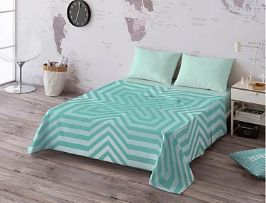 Euromoda - Juego de cama 100% algodón Massana