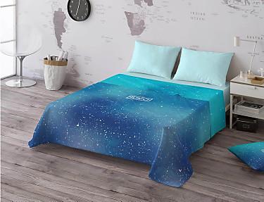 Euromoda - Juego de cama 100% algodón Cosmo Blue