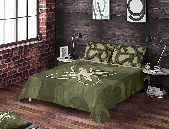 Euromoda - Juego de cama 100% algodón Ares