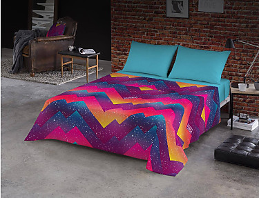 Euromoda - Juego de cama 100% algodón Futura