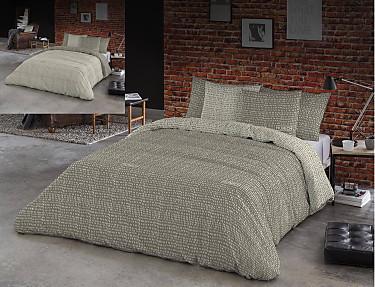 Euromoda - Funda nórdica reversible 100% algodón Osaka Grey