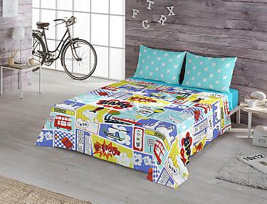 Euromoda - Juego de cama 100% Algodón Play Kid
