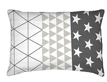 Denisa Home - Cojín Triangle Gris 30x60