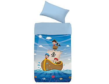 Denisa Home - Funda Nórdica para cuna-cama Barco Pirata
