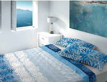 Euromoda Iceberg - Juego de cama 100% Algodón Helenia