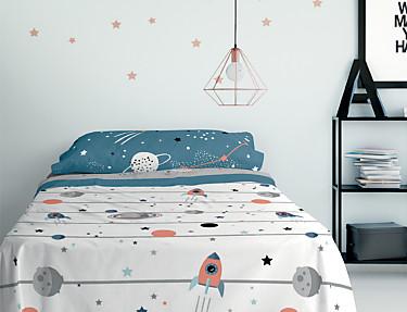 Euromoda Iceberg - Juego de cama 100% Algodón Cosmic