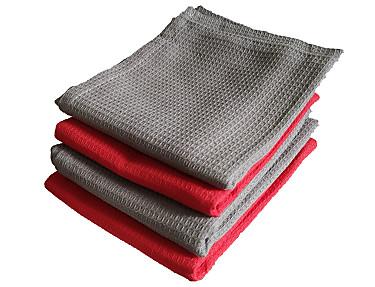 Nuestros Productos - Paños de cocina rojo y gris