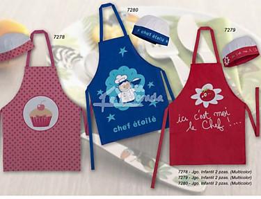 Nuestros Productos - Juego de cocina infantil delantal y gorro