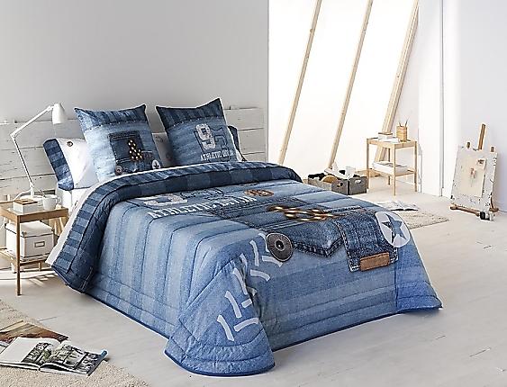 JVR - Edredón Bouti 240gr 100% algodón Jeans