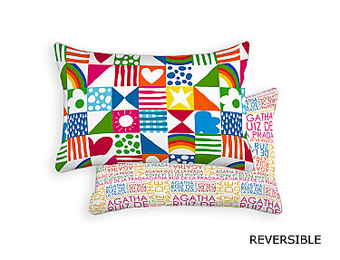 Barbadella Home - Funda de cojín reversible Agatha Love DIG 027