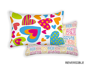 Barbadella Home - Funda de cojín reversible Agatha Love DIG 046