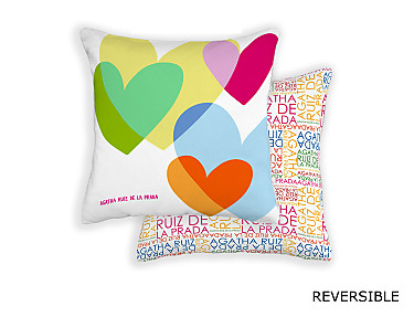 Barbadella Home - Funda de cojín reversible Agatha Love DIG 038