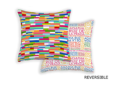 Barbadella Home - Funda de cojín reversible Agatha Love DIG 051
