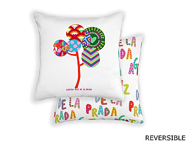 Barbadella Home - Funda de cojín reversible Agatha Love DIG 021