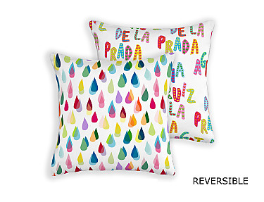 Barbadella Home - Funda de cojín reversible Agatha Love DIG 020