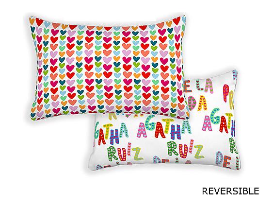 Barbadella Home - Funda de cojín reversible Agatha Love DIG 040