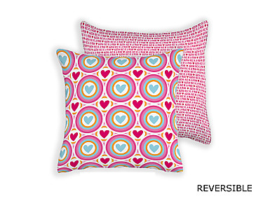 Barbadella Home - Funda de cojín reversible Agatha Love DIG 024