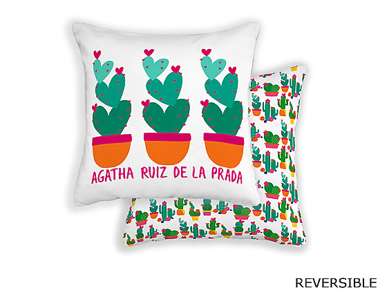 Barbadella Home - Funda de cojín revestible Agatha Love DIG 041