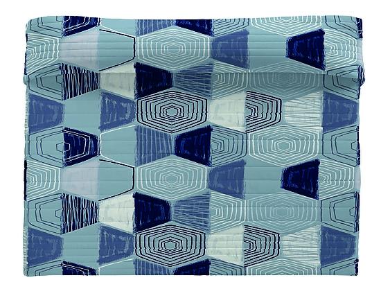 Euromoda - Colcha Bouti 100% Algodón Blue Mand