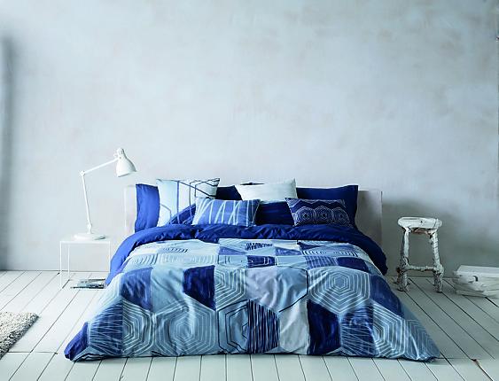 Euromoda Naturals - Funda nórdica 100% algodón Blue Mand