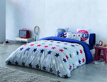 Euromoda - Funda nórdica 100% algodón American Stars