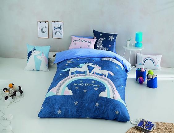 Euromoda - Funda nórdica 100% algodón Unicorn Night