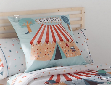 JVR - Cojín 100% algodón Circus
