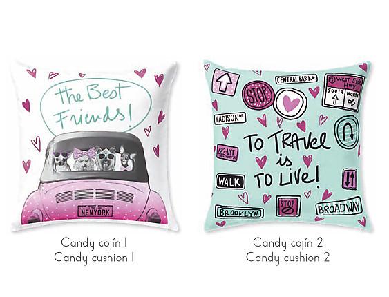 JVR - Cojín 100% algodón Candy