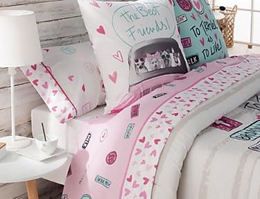 JVR - Juego de cama 100% algodón Candy A